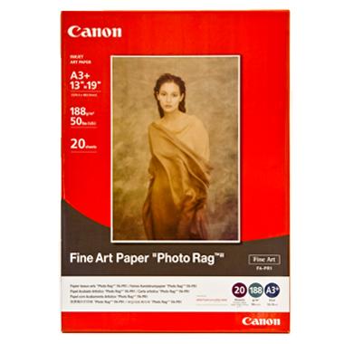 a3  fine art paper quot photo ragquot  188 gsm  20   stock code   fa pr1a3