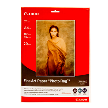 a4 fine art paper quot photo ragquot  188 gsm  20   stock code   fa pr1a4