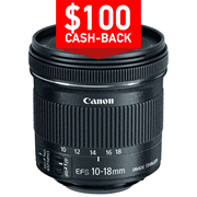 Canon EFS 10-18mm f/4.5-5.6 IS STM lens