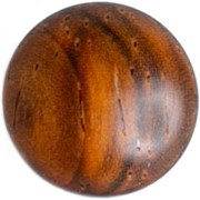 Artisan Obscura Teak Soft Release Button Convex 11mm