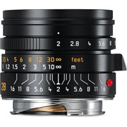 Leica 28mm f/2 Summicron-M ASPH Lens Black