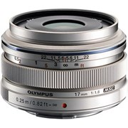 Olympus 17mm f/1.8 Wide Snap Lens Silver