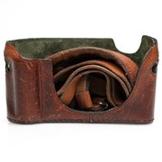 Luigi Cases (Leicatime) Half case: M9 (M9P/Monochrom I/M-E, M8/M8.2) brown leather grade 9
