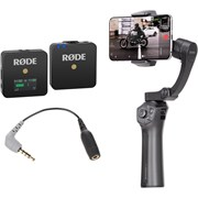 Benro Phoneographer P1 Smartphone Gimbal + RODE Wireless GO Mic Vlogger Kit (Includes RODE SC4 Adapter)