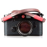 Bronkey Tokyo 102 - Brown & Red Leather Camera Neck Strap 120cm
