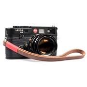 Bronkey Tokyo 202 - Brown & Red Leather Camera Wrist Strap 23.5cm