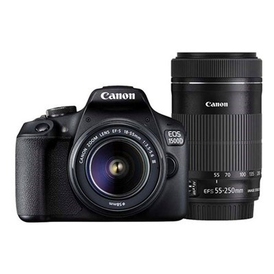 Product: Canon EOS 1500D + EF-S 18-55mm III non-IS + EF-S 55-250mm f/4-5.6 IS STM
