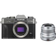 Fujifilm X-T30 charcoal silver + 23mm f/2 silver kit