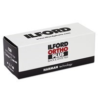 Product: Ilford ORTHO PLUS 80 ISO Black & White Film 120 Roll