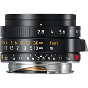 Leica 28mm f/2.8 Elmarit-M ASPH Lens Black