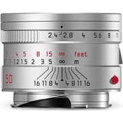 Leica 50mm f/2.4 Summarit-M Lens Silver