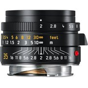 Leica 35mm f/2 Summicron-M ASPH Lens Black