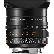 Leica 28mm f/1.4 Summilux-M ASPH Lens Black