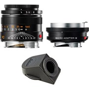 Leica 90mm f/4 Elmar M Set Macro + Angle finder + Macro Adaptor