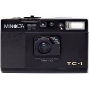 Film Cameras SH TC-1 35mm Film Camera: black 70th anniversary w/- case grade 9