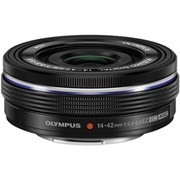 Olympus 14-42mm f/3.5-5.6 Pancake Lens Black (Electronic Zoom)