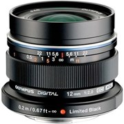 Olympus 12mm f/2 Ultra Wide Lens Black