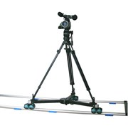 Proaim Dolly w/- 12' straight track  + 75mm tripod stand + fluid head