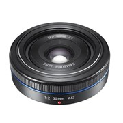 Samsung SH 30mm f/2 NX Pancake lens black grade 10 (new: display)