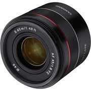 Samyang AF 45mm f/1.8: Sony FE (ETA early June 2019)