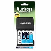 Uniross Hybrio charger w/ 4 AA batteries