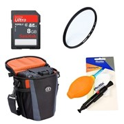 Misc Single Upgrade kit - 58mm UV Filter 1x SanDisk 8gb SD Card 1x Cleaning Kit 1x Small Bag