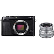 Fujifilm X-E3 black + 16mm f/2.8 WR silver kit